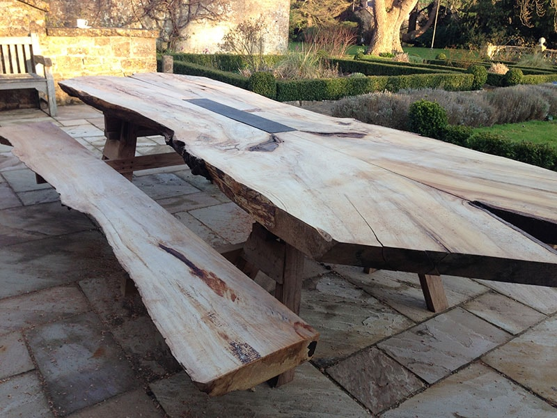 Outdoor banquet table - commission for a London garden